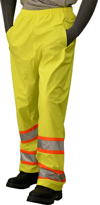 Majestic 75-7351 Hi Vis Yellow Waist Pants ANSI Class E DOT Stripes: Global Construction Supply