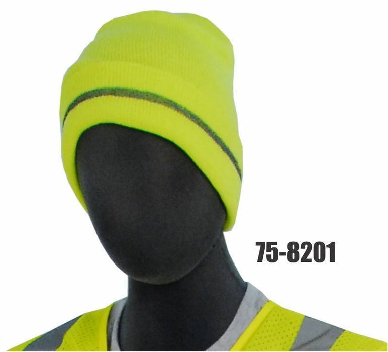 Majestic 75-8201 High Visibility Yellow Knit Acrylic Beanie: Global Construction Supply