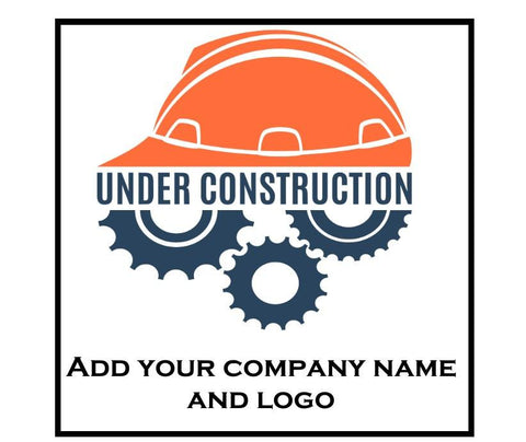 "Custom Hard Hat Decals Your Company Name and Logo Graphic 2"" x 2"" Square - Global Construction Supply"