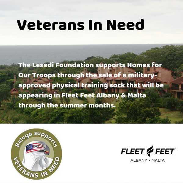 Fleet Feet Albany Malta Homes for our Troops Veterans Balega