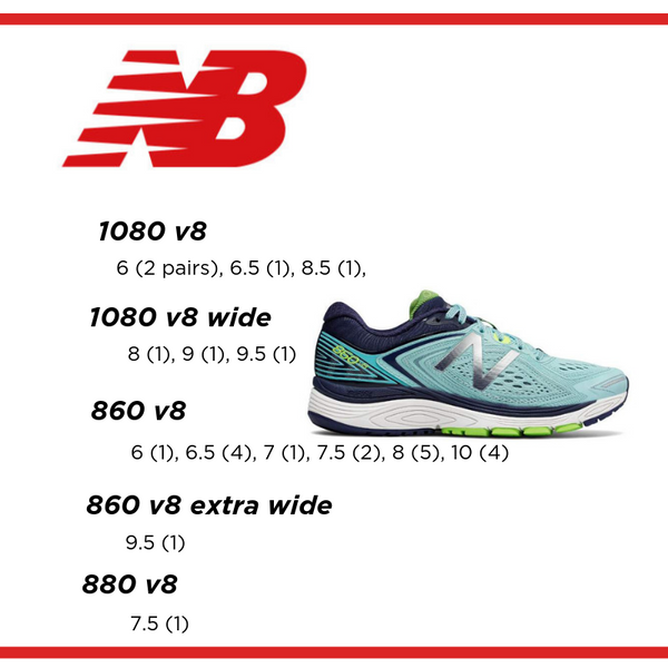 Fleet Feet Albany Clearance New Balance 880 860 1080 Women