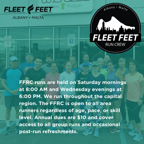 Fleet Feet Albany Malta Run Crew FFRC Saturday Wednesday