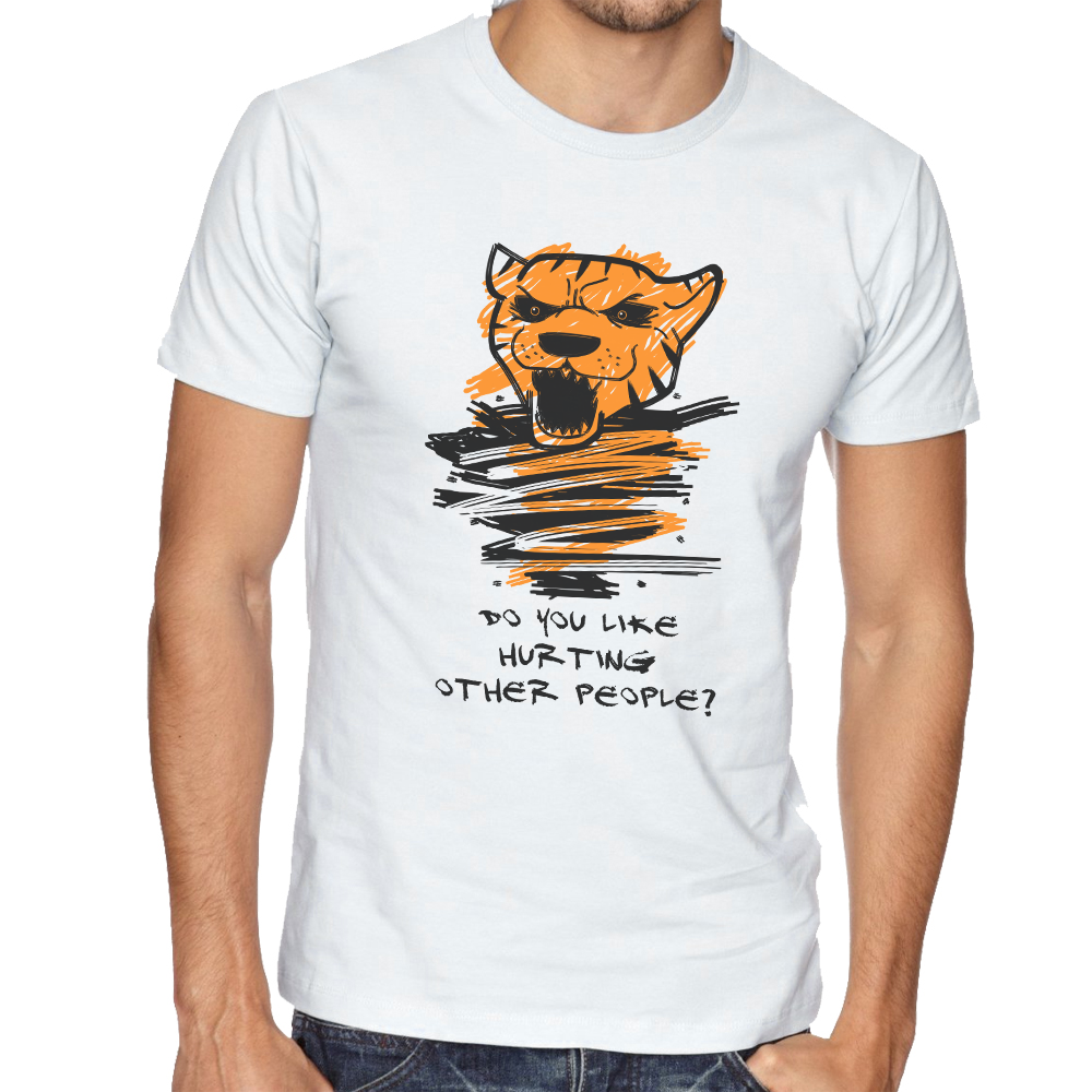 T shirt Hurting Tiger