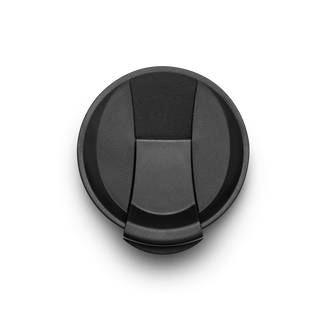 Black Flip Cap with flip top closed