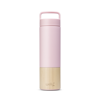 meet_tumbler=Rose Adventure Bundle tall pink water bottle with bamboo base and loop cap