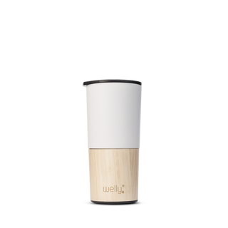 welly-bottle Insulated Bamboo Coffee Tea Mug Tumblermeet_tumbler=White 16 oz