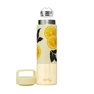 welly-bottle Insulated Infusing Bamboo Water Bottle for Hiking Travel Fitness meet_tumbler=Bria-Nicole Traveler 18 oz