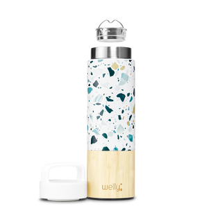 welly-bottle Insulated Infusing Bamboo Water Bottle for Hiking Travel Fitness Sleek meet_tumbler=Terrazzo Traveler 18 oz  | Hover_Image