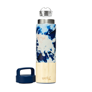 welly-bottle Insulated Infusing Bamboo Water Bottle for Hiking Travel Fitness meet_tumbler=Tie-Dye Traveler 18 oz