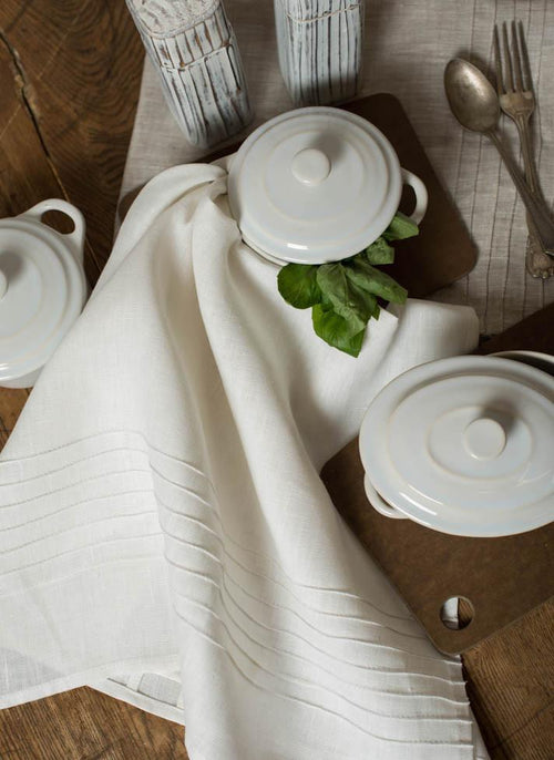 Mary Tea Towels White Set of 2
