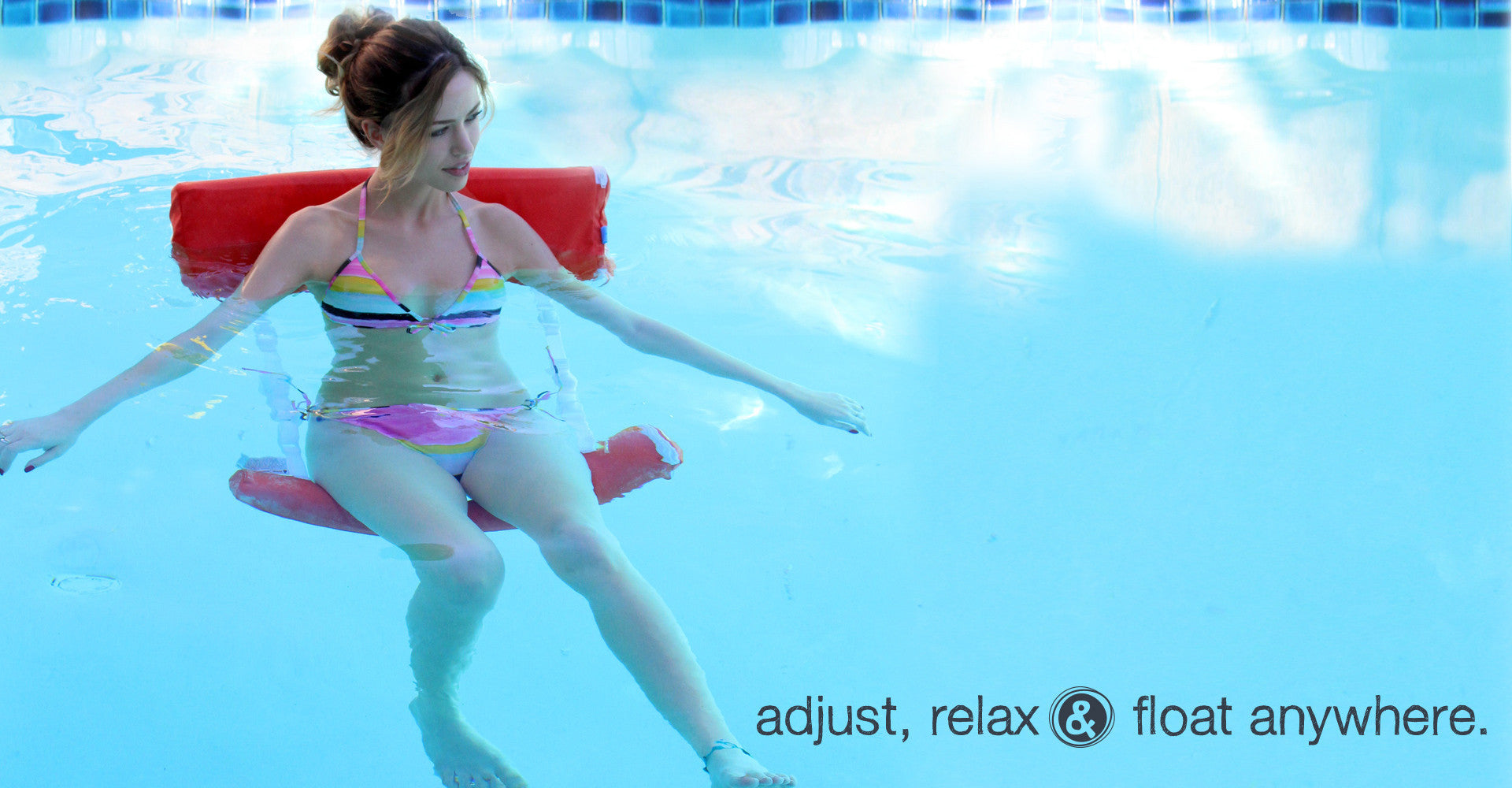 Adjust, relax & float happy Just Add Noodles Noodle float chair