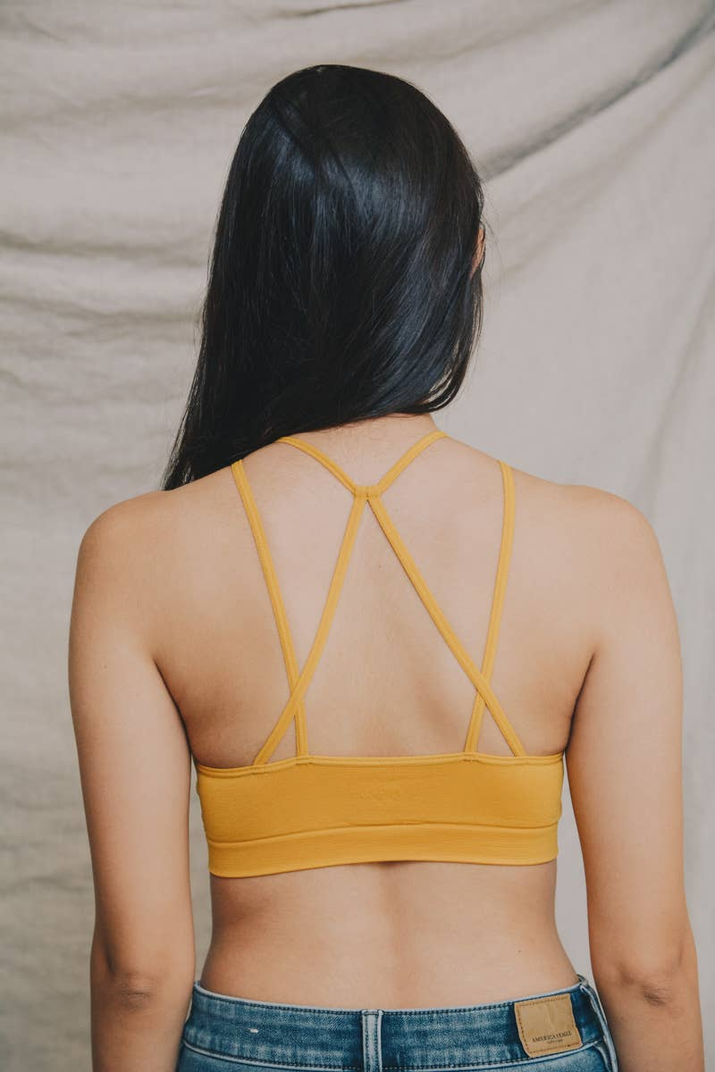 Avery | Seamless Floral Cutout Strappy Back Bralette