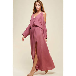 Sun-Day Style | English Rose Cold Shoulder Maxi Dress