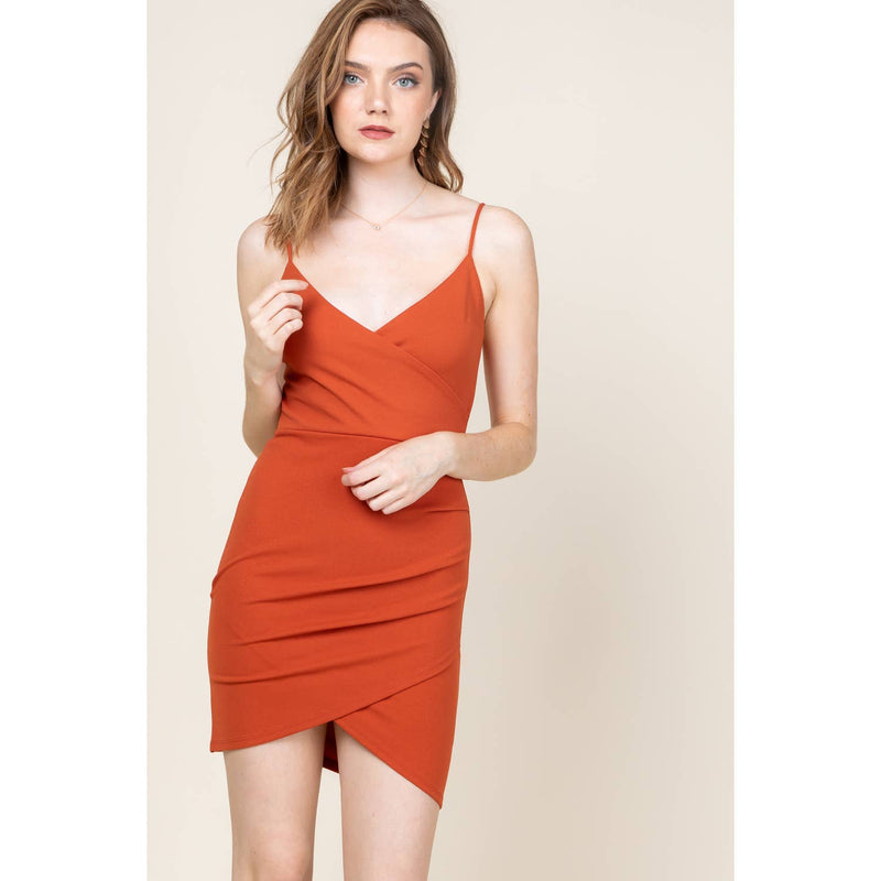 Heat of the Moment | Bodycon Surplice Dress