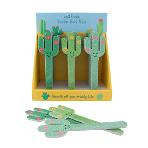 Sass & Belle - Colourful Cactus Nail File Assorted