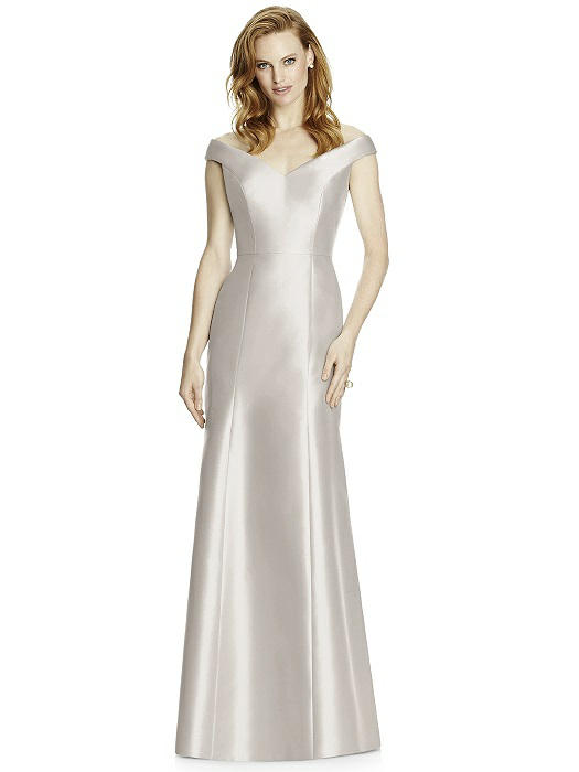 Studio Design by Dessy 4519 Floor Length Sateen Bridesmaids Dress - Off White Bride