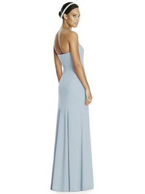 Studio Design by Dessy 4515 Strapless Floor Length Crepe Bridesmaids Dress - Off White Bride