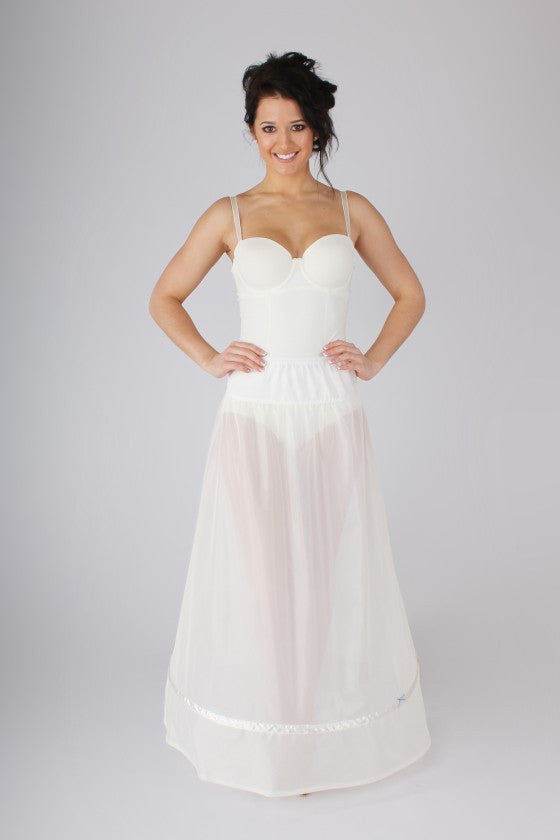 Simple A-Line Petticoat BR10 - Off White Bride