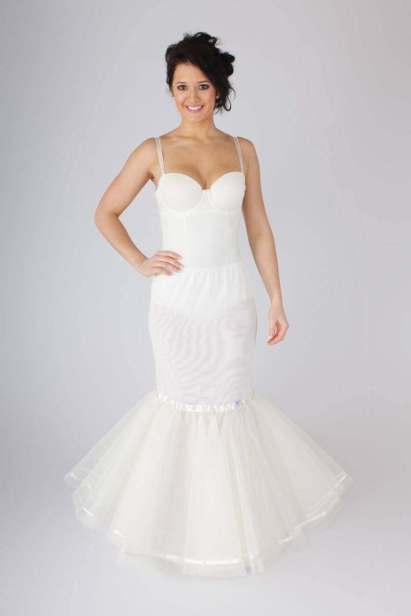 Blue Ribbon Petticoat Fishtail or Mermaid Slip BR11 - Off White Bride