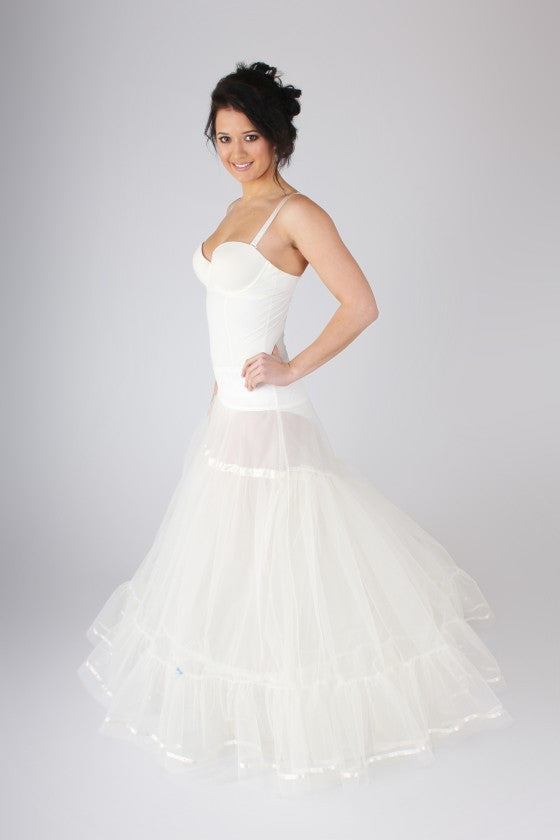 Blue Ribbon Full Petticoat With Train BR18 - Off White Bride