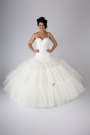 Blue Ribbon Petticoat Largest Fullest Slip BR31 - Off White Bride