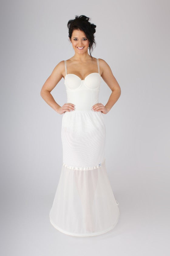 Simple Fishtail or Mermaid Petticoat BR36 - Off White Bride