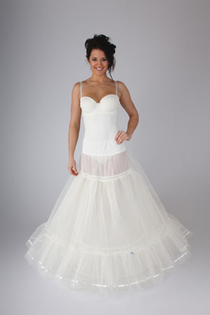 Blue Ribbon Petticoat Full Slip with Frill BR4 - Off White Bride