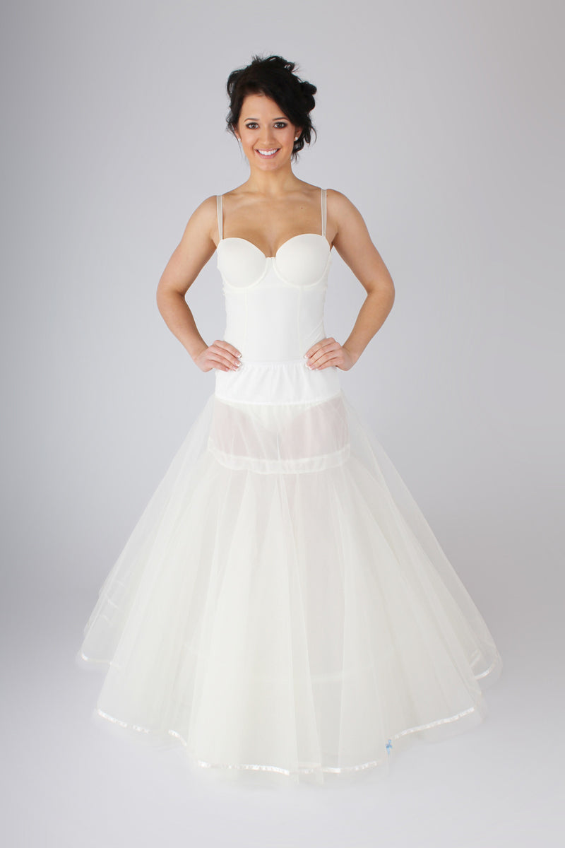 Blue Ribbon Petticoat Smooth Full A-Line Slip BR5 - Off White Bride
