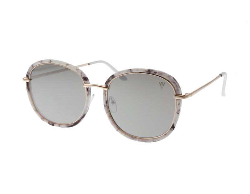 Robin  | Marble Print Large Frame Sunglasses