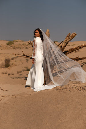 Gwen | Fringe Sleeve Wedding Dress
