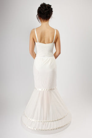 Blue Ribbon Petticoat Fishtail or Mermaid Double Hoop Slip BR37 - Off White Bride