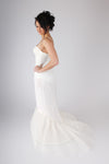 Blue Ribbon Petticoat Small Fishtail Mermaid Slip with train BR21 - Off White Bride
