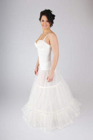 Blue Ribbon Petticoat BR2 A-Line Petticoat with Hoop - Off White Bride