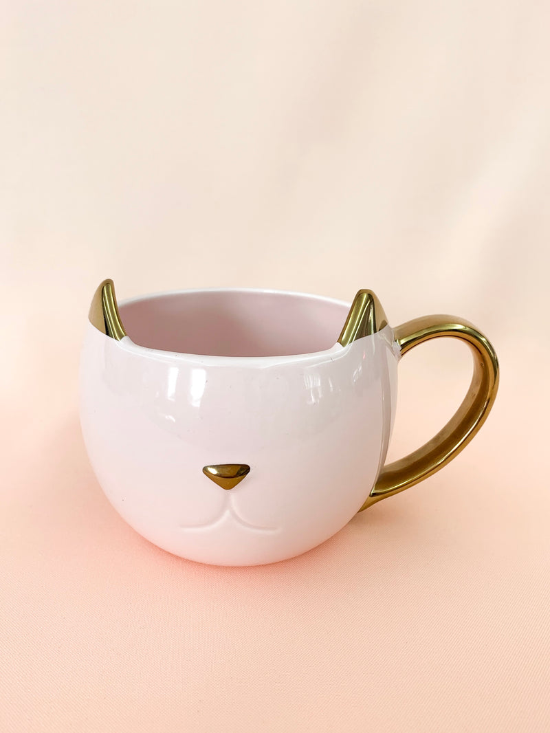 Purrrfect Blush + Gold | Cat Mug