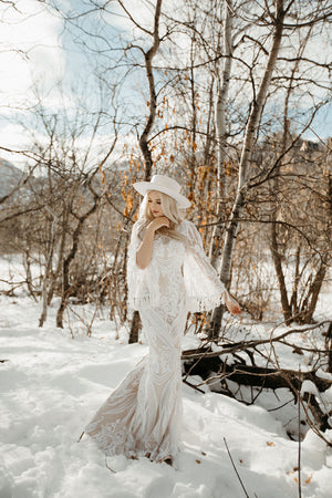 Wiskey | Boho Bell Sleeve Wedding Dress