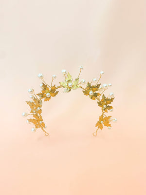 Maple Leaf Forest Crown | handmade