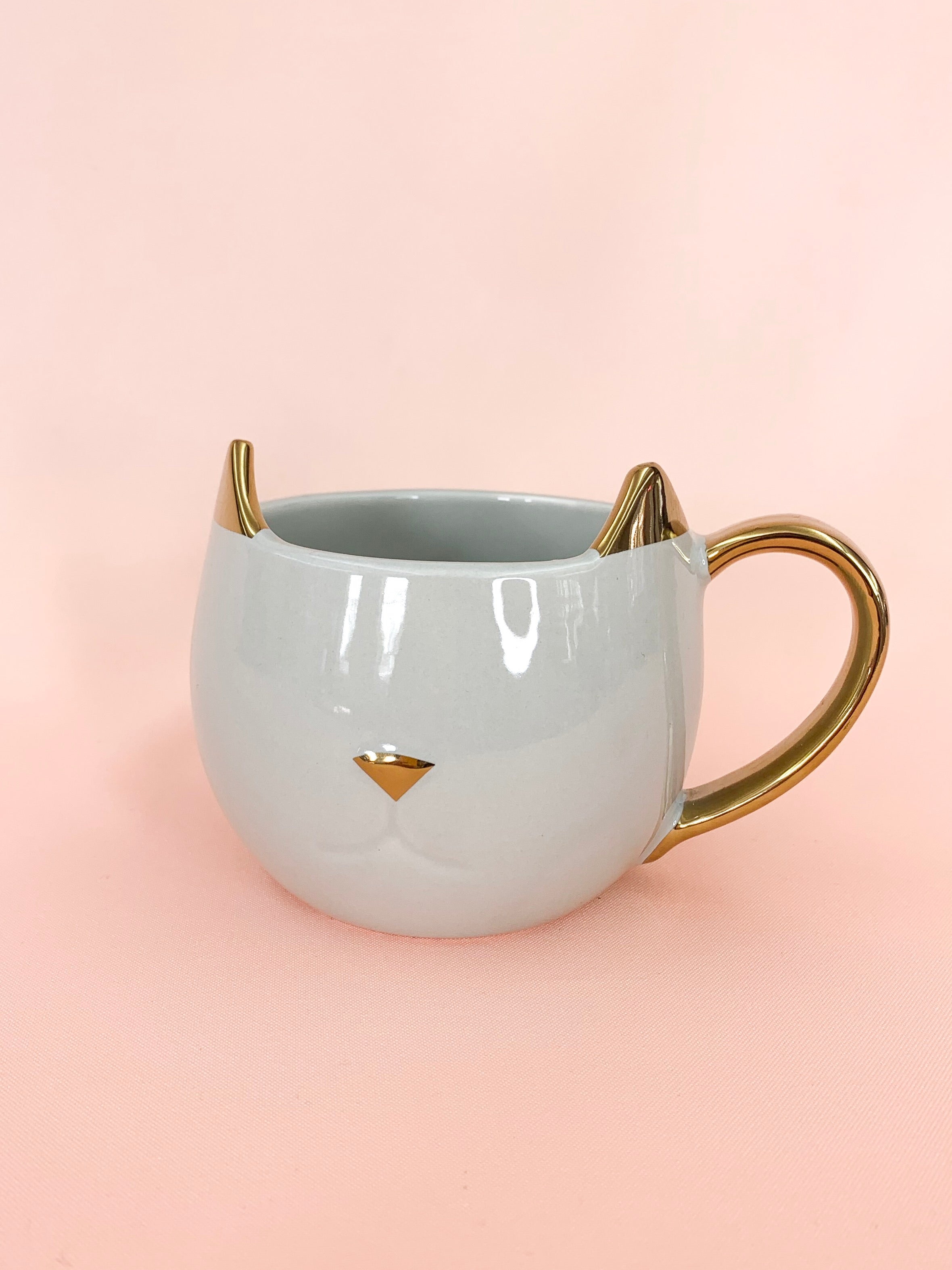 Pawsome Grey + Gold | Cat Mug