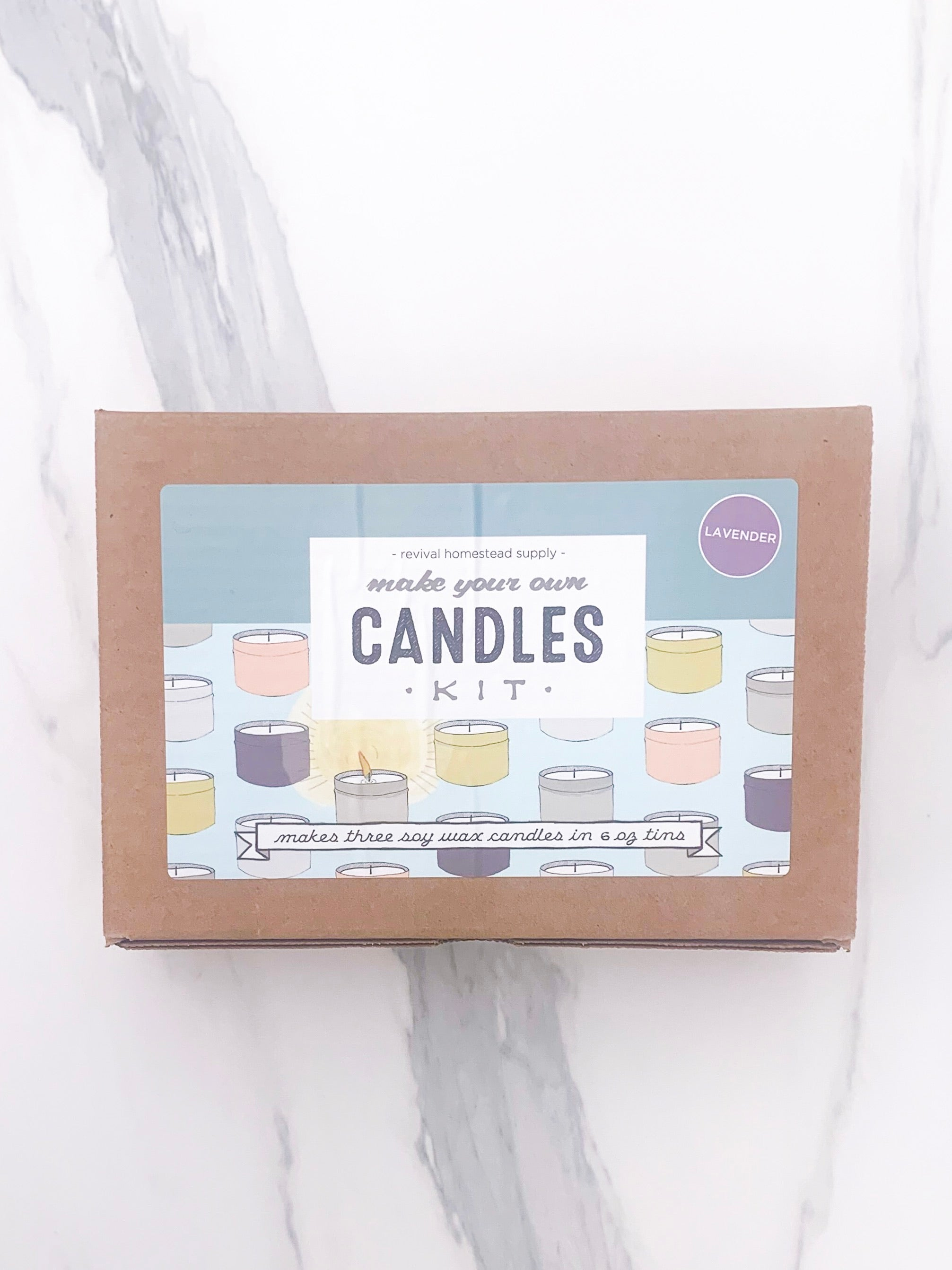 Soy Candle Kit - Lavender Scented | Revival Homestead Supply