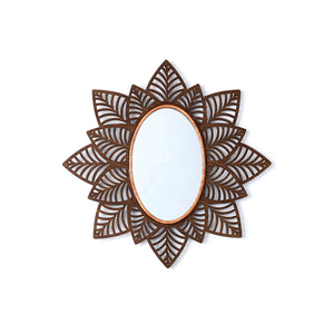 The Jungle Look | Handcrafted Boho Maple Wood Mirror