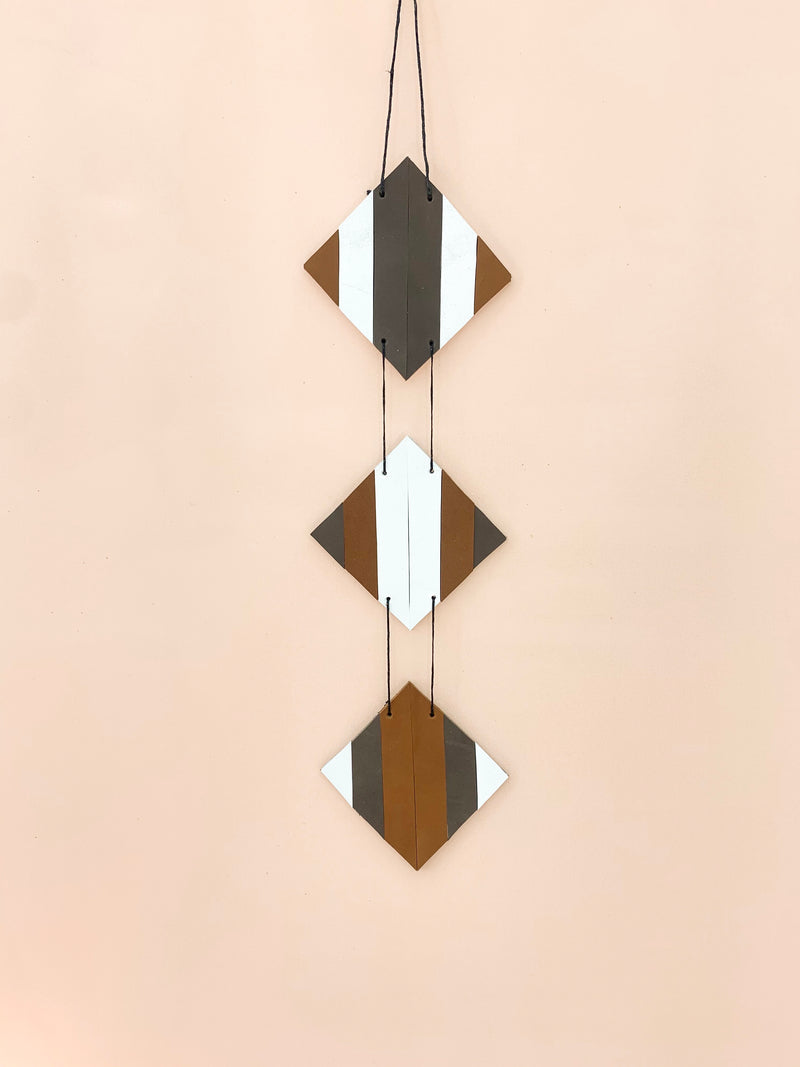 Horizon | Reclaimed Leather Geometric Wall Art