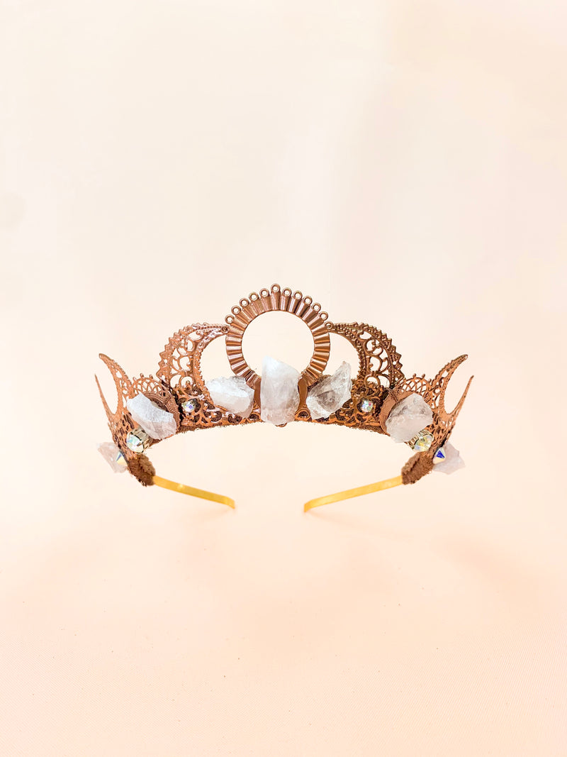 Eclipse | handmade raw gemstone crown
