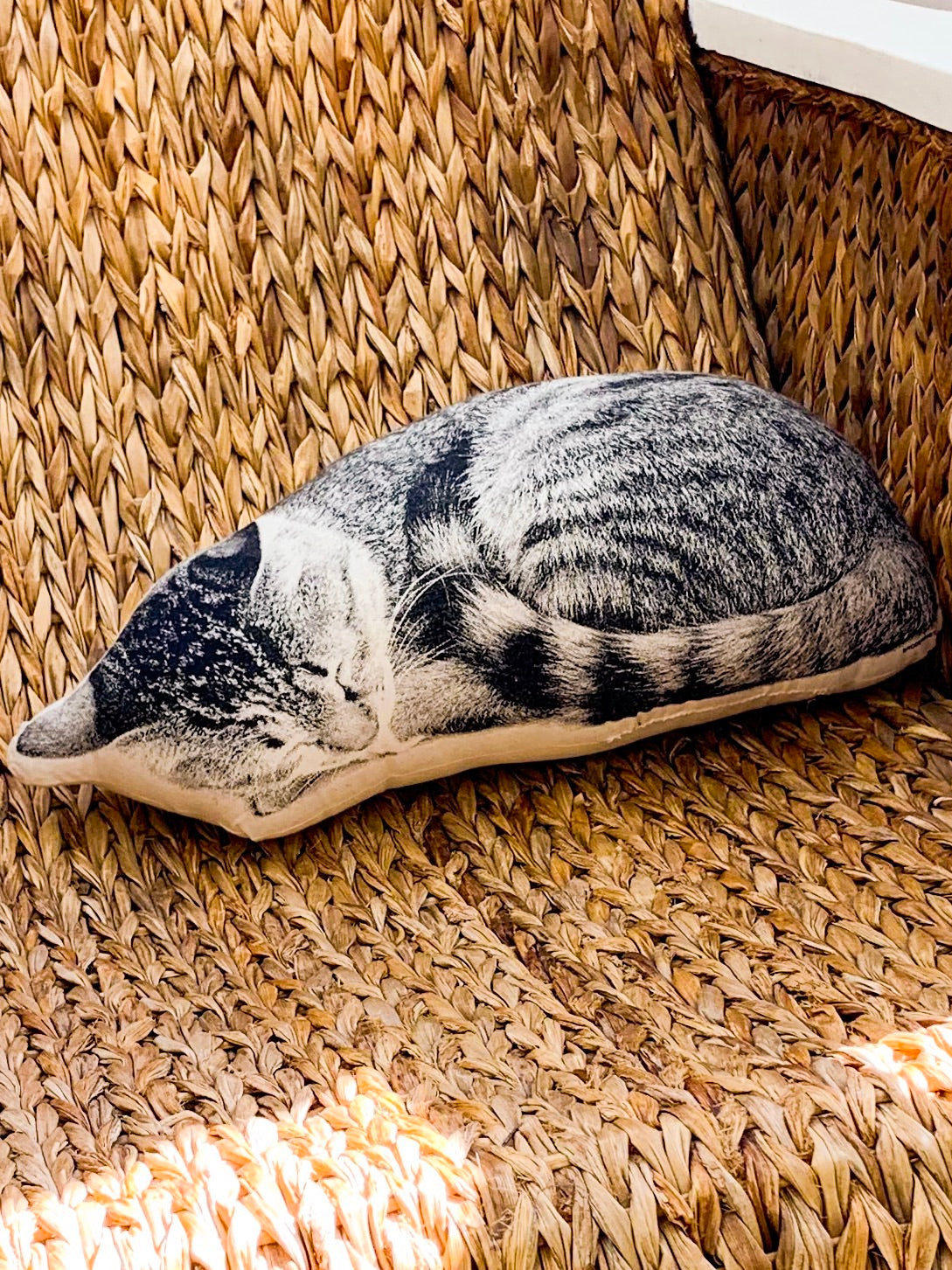 Sleeping Tabby Cat Pillow