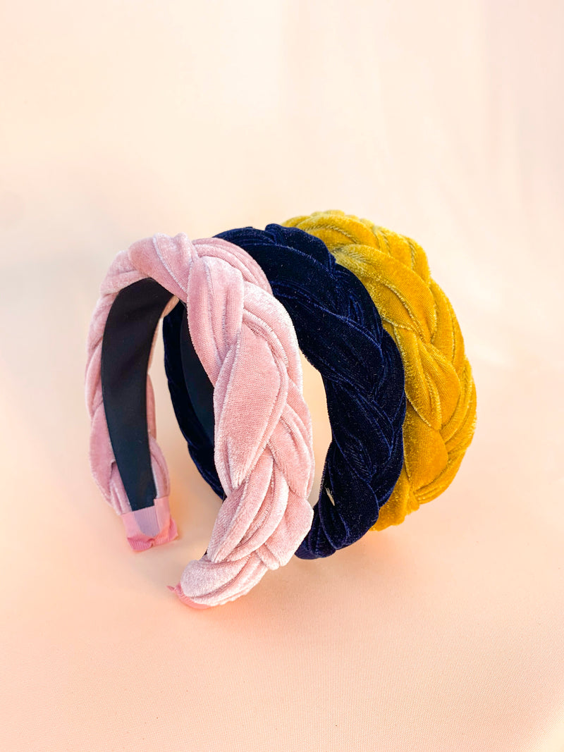 Merry Gold | Braided Velvet Headband
