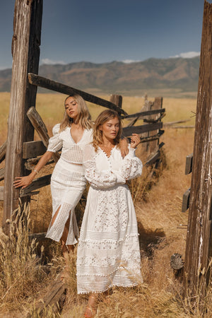 Bahama Mama | White Lace Long Sleeve Dress