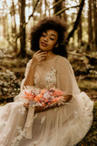Maisie | floral embroidered boho wedding dress