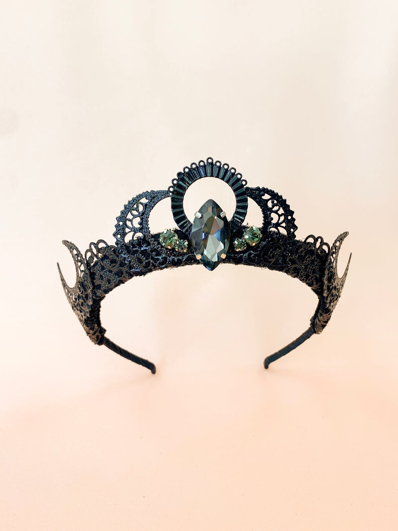Total Eclipse | handmade black tiara
