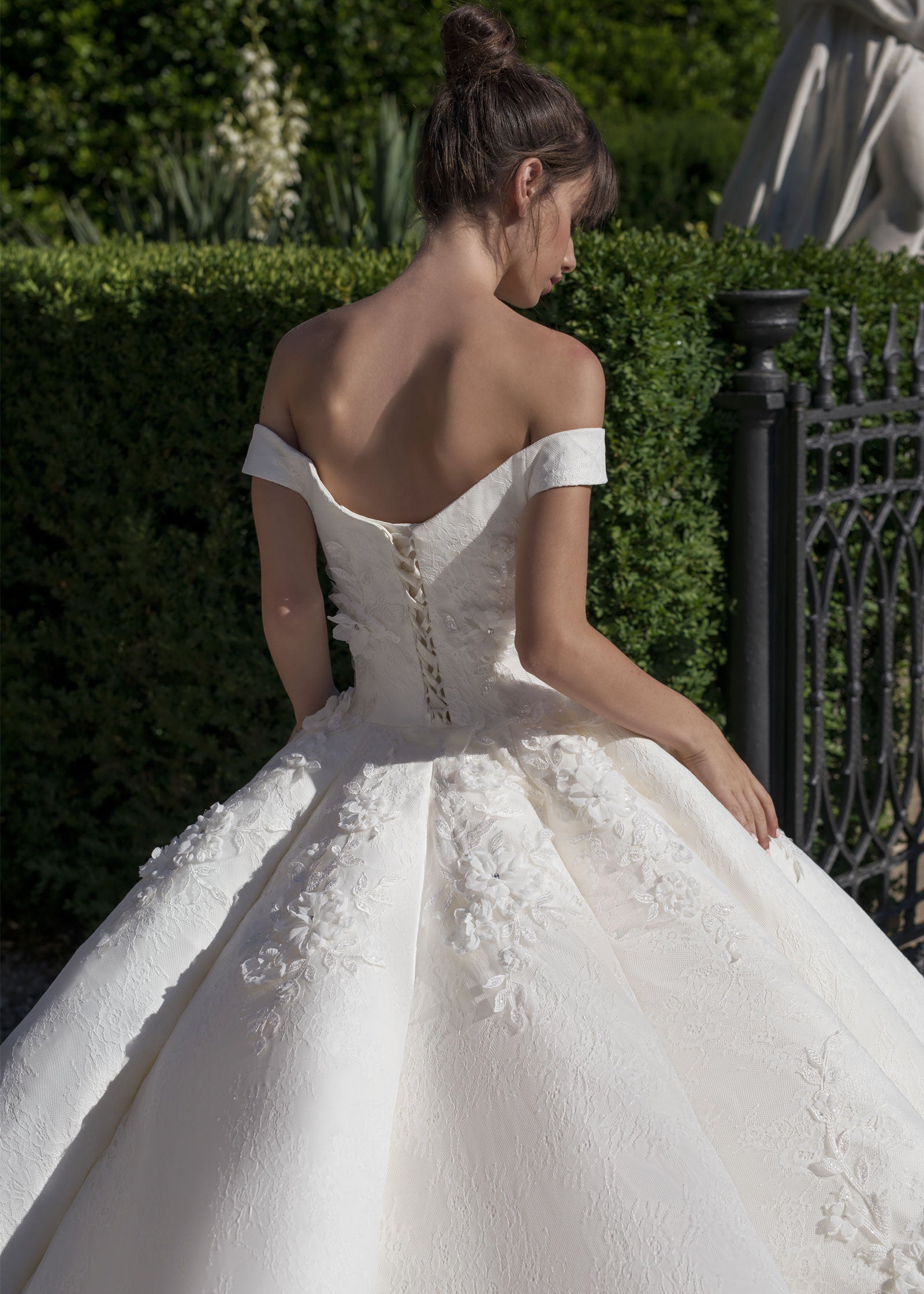 Middleton SAMPLE SALE | Glamorous Off the Shoulder Ball Gown Wedding Dress