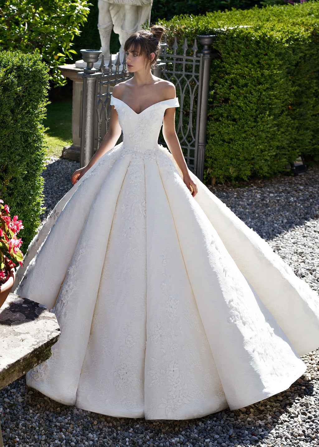 Middleton | Glamorous Off the Shoulder Ball Gown Wedding Dress