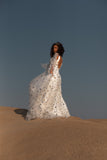 Galaxie | Sequin Star Flutter Sleeve Wedding Dress