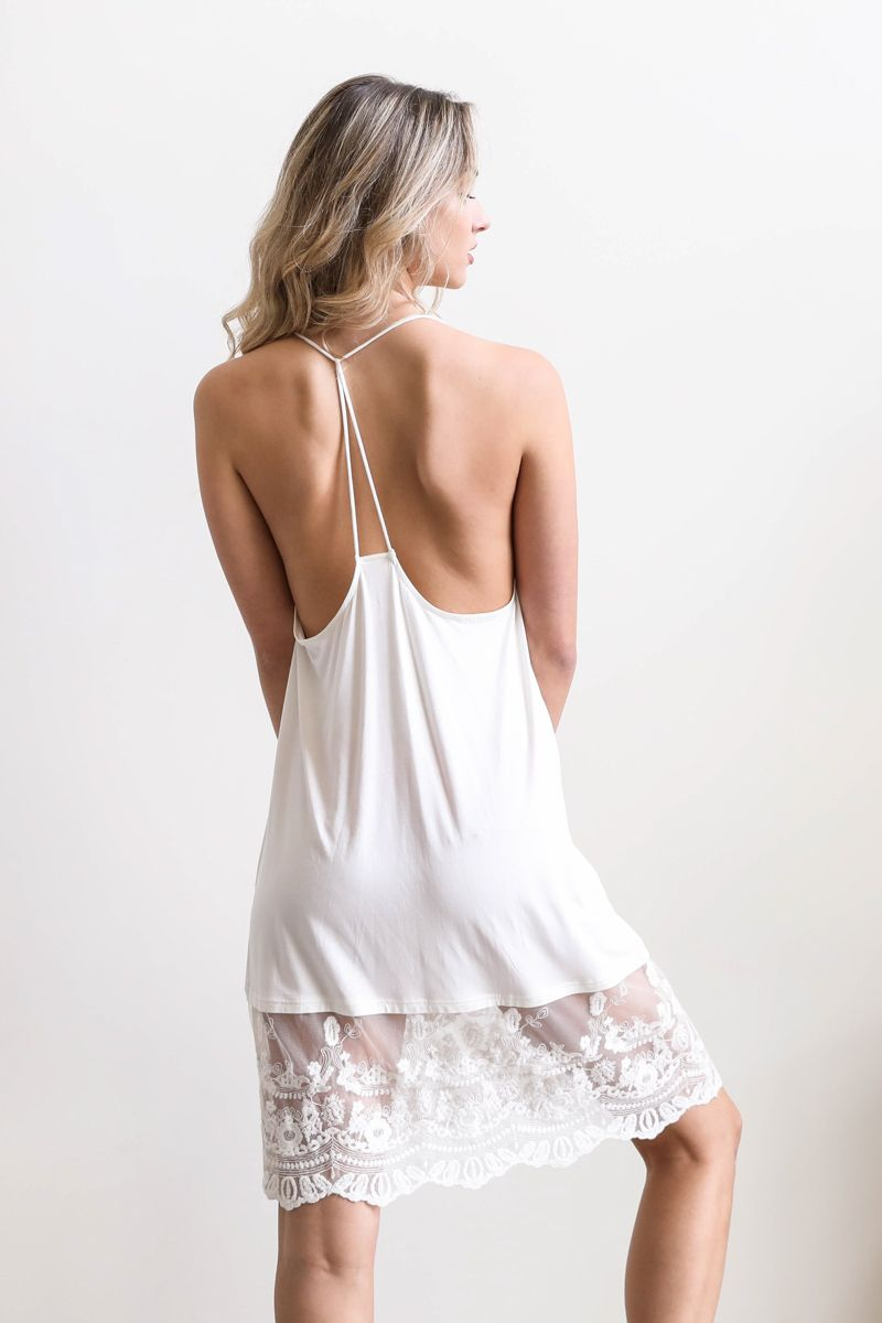 Rory | Ivory lace slip nightgown